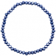 Facet armbanden top quality 4x3mm Crown blue-pearl shine coating