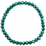 Facet armbanden top quality 6x4mm Petrol green-pearl shine coating