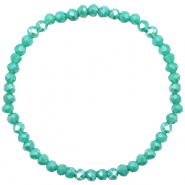 Facet armbanden top quality 4x3mm Turquoise green-pearl shine coating