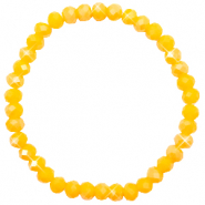 Facet armbanden top quality 6x4mm Freesia yellow opal-pearl shine coating