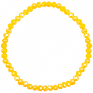 Facet armbanden top quality 4x3mm Freesia yellow opal-pearl shine coating