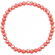Facet armbanden top quality 6x4mm Vintage rose peach-pearl shine coating
