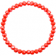 Facet armbanden top quality 6x4mm Coral red-pearl shine coating