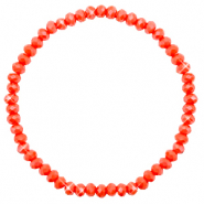 Facet armbanden top quality 4x3mm Coral red-pearl shine coating
