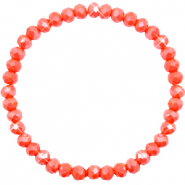 Facet armbanden top quality 6x4mm Coral orange-pearl shine coating