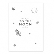 Kaartjes voor sieraden 'I love you to the moon and back' White