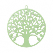 Bohemian hanger tree of life 25mm Meadow green (nikkelvrij)