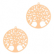 Bohemian hanger tree of life 15mm Rosegold (nikkelvrij)