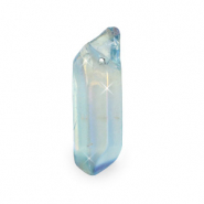 Aura quartz crystal hanger natuursteen Light blue opal