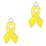 Basic quality metaal bedel ribbon Zilver-yellow