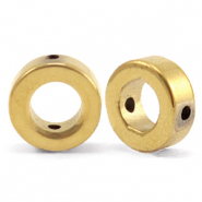 Kralen van hematite circle 8mm Gold