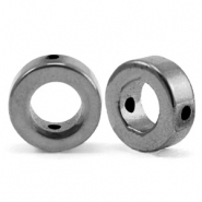 Kralen van hematite circle 8mm Anthracite grey