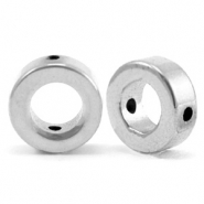 Kralen van hematite circle 8mm Silver grey