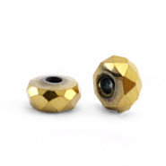 Kralen van hematite disc facet 4x2mm Gold