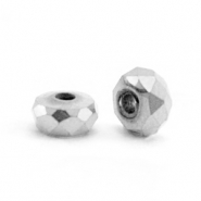 Kralen van hematite disc facet 4x2mm Silver grey