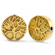 Kralen van hematite tree of life 10mm Gold