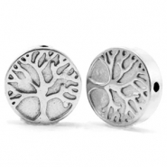 Kralen van hematite tree of life 10mm Silver grey