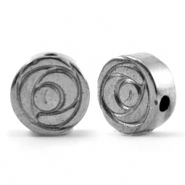 Kralen van hematite roos 8mm Anthracite grey