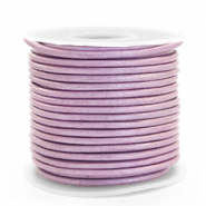 Leer DQ rond 3 mm Lilac purple metallic