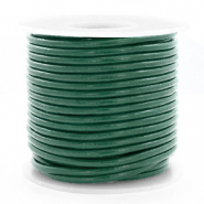 DQ Leer Voordeelrollen rond 3 mm Hunter green metallic