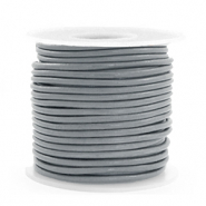 Leer DQ rond 2 mm Gallant grey