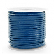 Leer DQ rond 2 mm Imperial blue