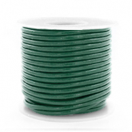 DQ Leer Voordeelrollen rond 2 mm Hunter green metallic