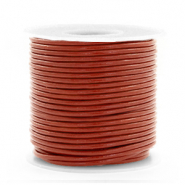 Leer DQ rond 1 mm Red ochre brown
