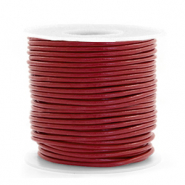 Leer DQ rond 1 mm Carmine red