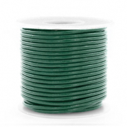 DQ Leer Voordeelrollen rond 1 mm Hunter green metallic