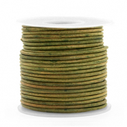 Leer DQ rond 1 mm Vintage moss green