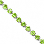 Strass chain ketting Lime green-silver