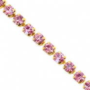 Strass chain ketting Hawthorn rose-gold