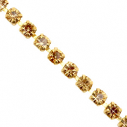 Strass chain ketting Cornsilk gold-gold