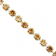 Strass chain ketting Cornsilk gold-silver