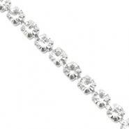 Strass chain ketting Crystal-silver