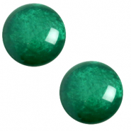 12 mm classic Polaris Elements cabochon pearl shine Agata green