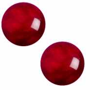 20 mm classic Polaris Elements cabochon pearl shine Rubino red