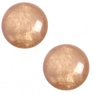 12 mm classic Polaris Elements cabochon pearl shine Mandora brown