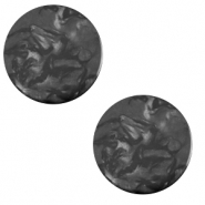 12 mm platte Polaris Elements cabochon Lively Carbone black