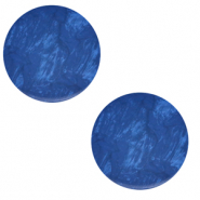 12 mm platte Polaris Elements cabochon Lively Iolite blue