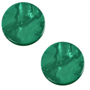 12 mm platte Polaris Elements cabochon Lively Agata green