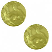 20 mm platte Polaris Elements cabochon Lively Origano green