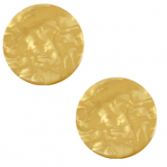 12 mm platte Polaris Elements cabochon Lively Curry yellow