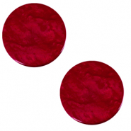 20 mm platte Polaris Elements cabochon Lively Rubino red