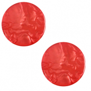 20 mm platte Polaris Elements cabochon Lively Ibisco red