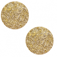 12 mm platte Polaris Elements cabochon Goldstein Curry yellow