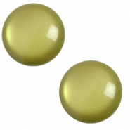 12 mm classic Polaris Elements cabochon soft tone Origano green