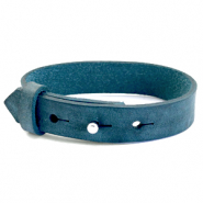Armbanden Cuoio leer 15 mm voor 20 mm cabochon Blue wing teal