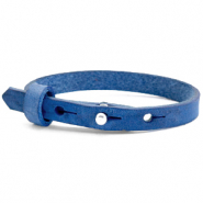Cuoio armband voor kids 8mm voor 12mm cabochon Victoria blue